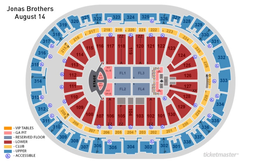 Seating Charts Pnc Arena
