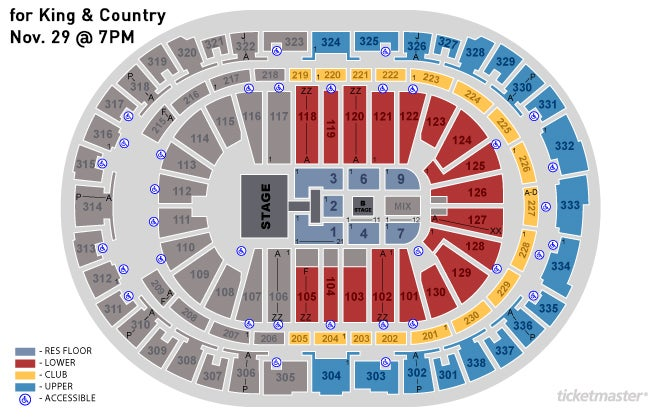 view seating chart - For King And Country Christmas Album