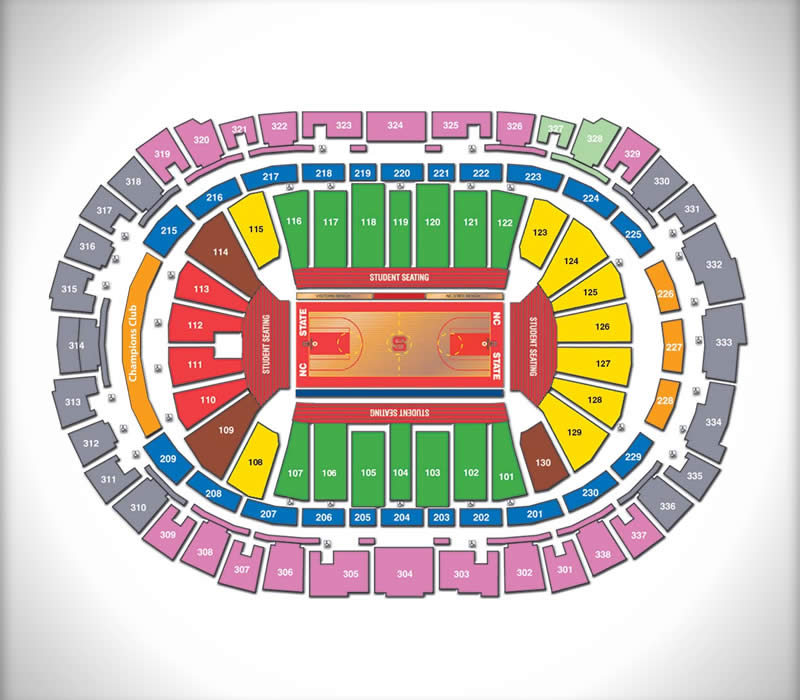 Seating Charts PNC Arena - Event seating chart template