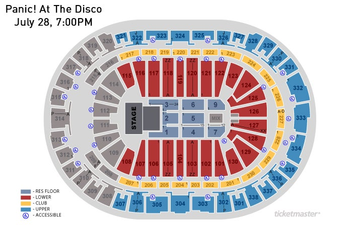 Panic at the disco pnc arena view seating chart m4hsunfo