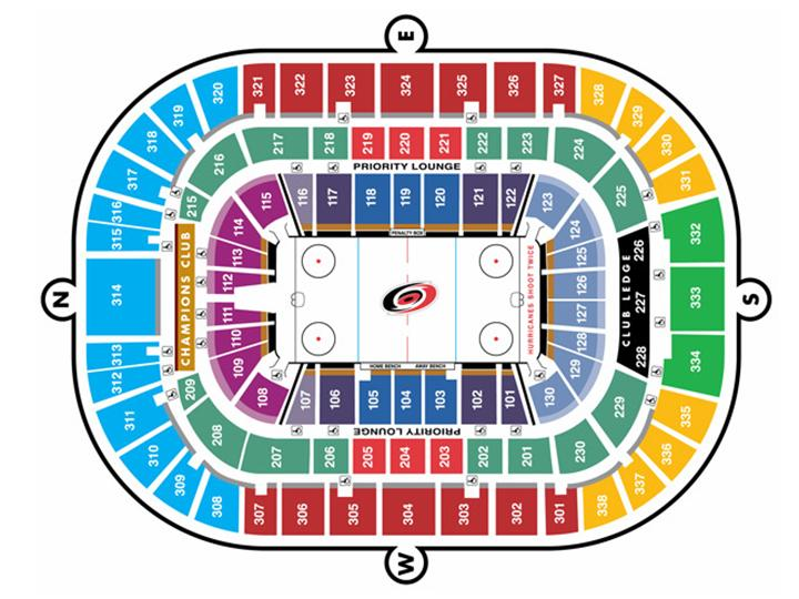 Pnc Arena Seating Charts
