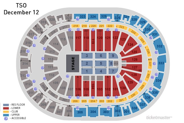 Pnc Arena Seat Map Trans Siberian Orchestra Presented by Hallmark Channel | PNC Arena Pnc Arena Seat Map
